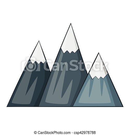 ic ne montagne style dessin anim montagne toile vecteur search clip art. Black Bedroom Furniture Sets. Home Design Ideas