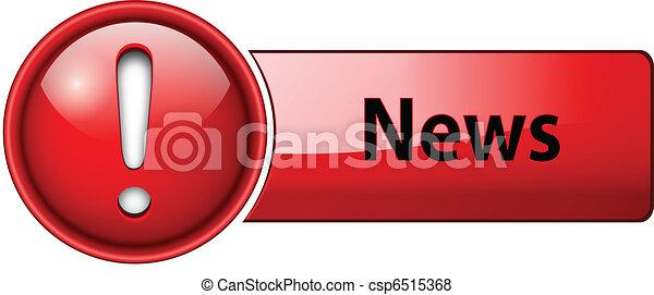 icône, nouvelles, bouton - csp6515368