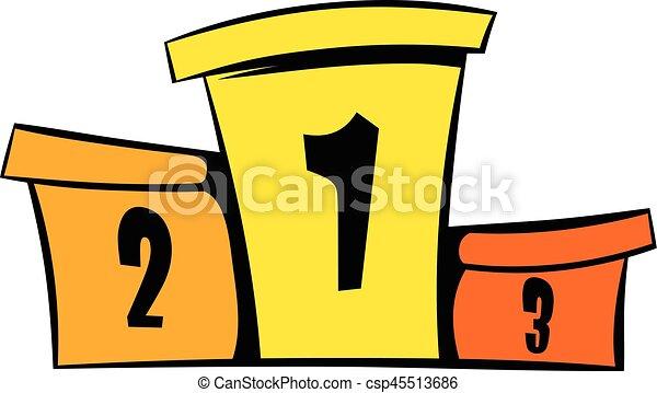 Ic ne podium vainqueurs dessin anim ic ne style - Dessin podium ...