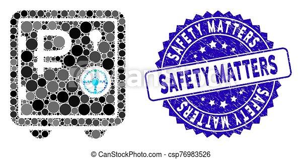 icône, sécurité, mosaïque, banque, rouble, sûr, compter, gratté, cachet - csp76983526