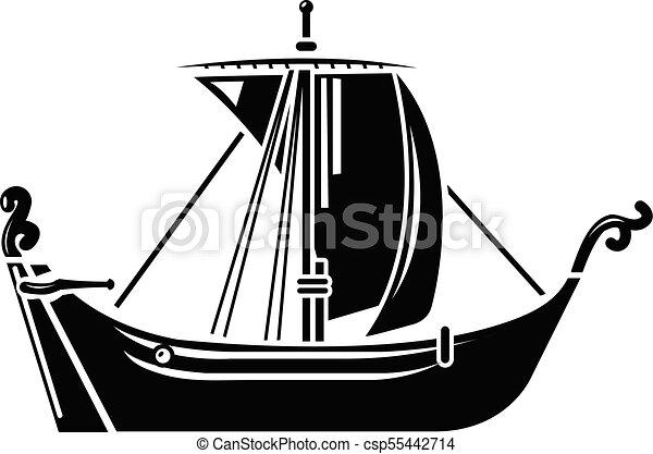 Icône Simple Bateau Style Pirate