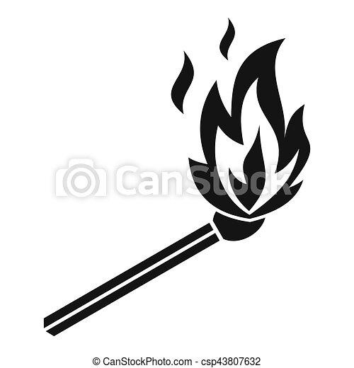 Icône Simple Style Flamme Allumette Toile Simple Dessins