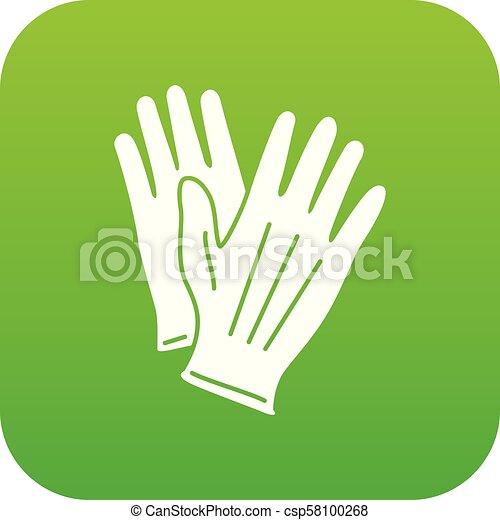 icône, simple, style, gant - csp58100268