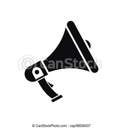 Icône Simple Style Porte Voix Style Simple Isolé Vecteurs - Porte voix