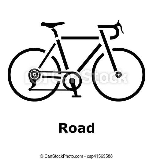 Icône Simple Style Vélo Route