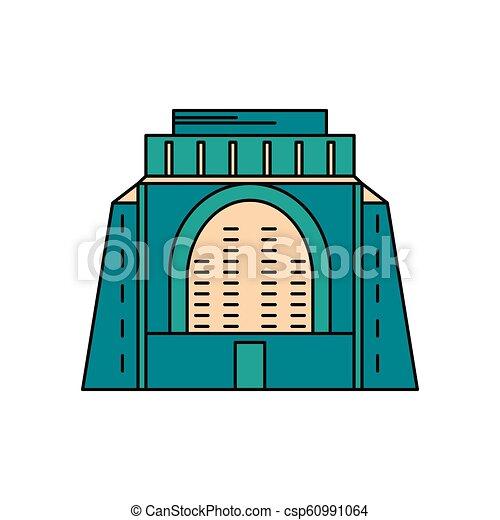 icône, style, africaine, dessin animé, monument - csp60991064