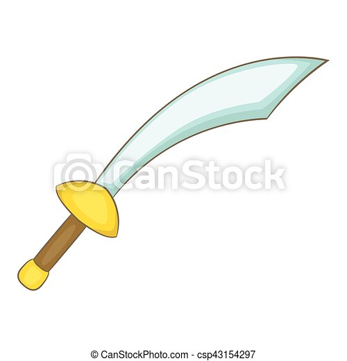Ic ne style dessin anim sabre toile sabre illustration vecteur conception icon - Dessin de sabre ...