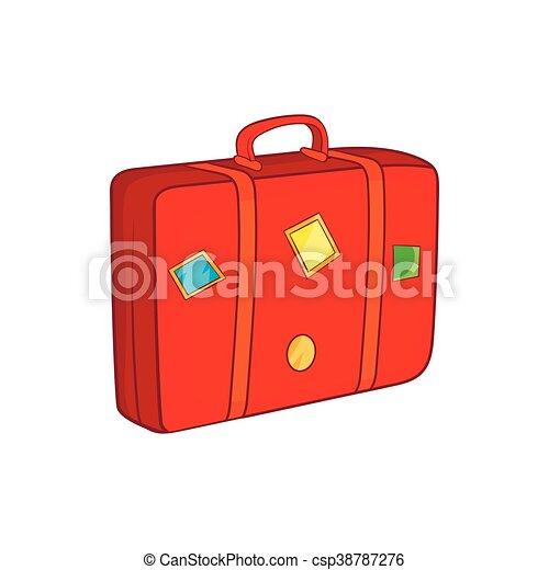 Ic ne style dessin anim valise style bagage symbole - Dessin de valise ...