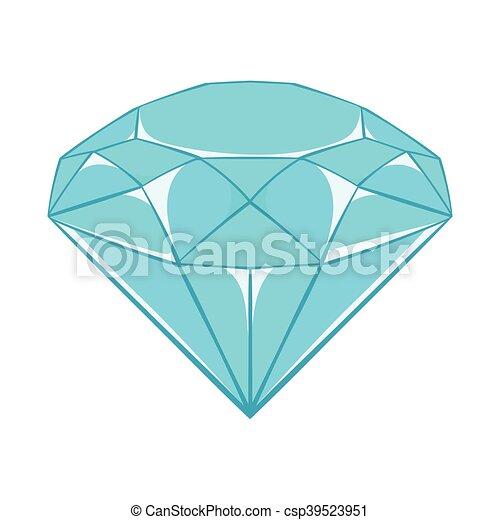 Ic ne style diamant dessin anim style diamant - Diamant dessin ...
