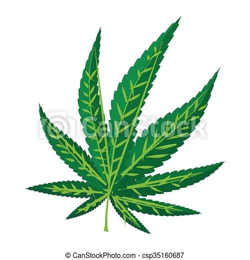 Ic ne style feuille marijuana dessin anim style feuille marijuana fond blanc dessin - Dessin feuille cannabis ...