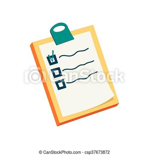 icône, style, liste, dessin animé , csp37673872