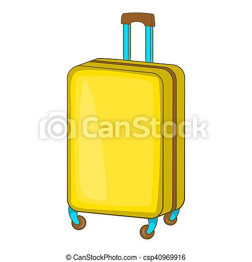 Ic ne style roues dessin anim valise style symbole - Dessin de valise ...