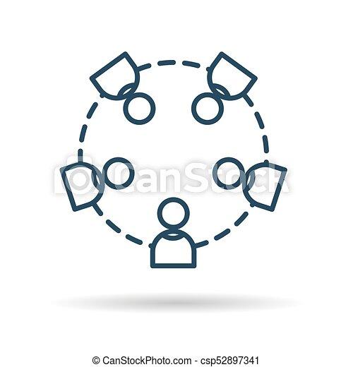 icône, travailler ensemble, gens - csp52897341