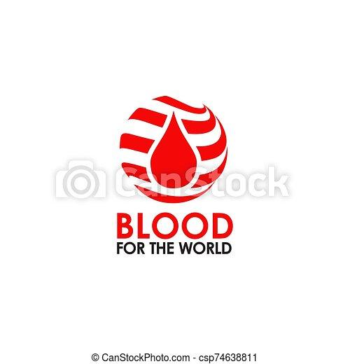 icône, vecteur, sanguine, logo, conception, gabarit - csp74638811