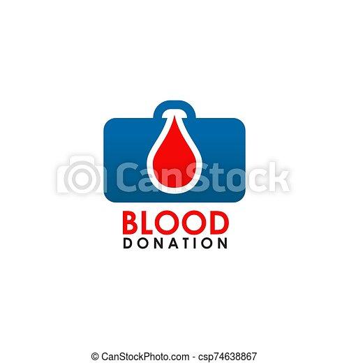 icône, vecteur, sanguine, logo, conception, gabarit - csp74638867