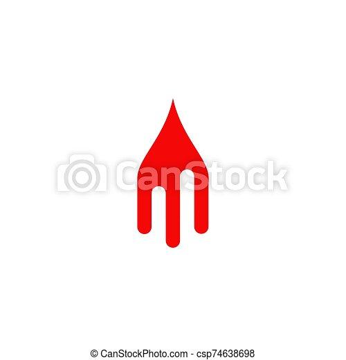 icône, vecteur, sanguine, logo, conception, gabarit - csp74638698