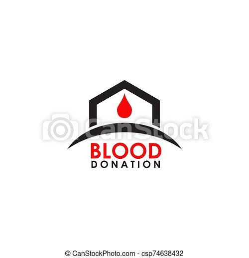 icône, vecteur, sanguine, logo, conception, gabarit - csp74638432