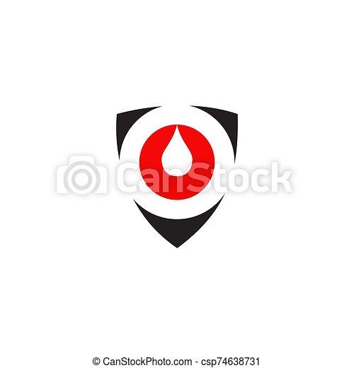 icône, vecteur, sanguine, logo, conception, gabarit - csp74638731