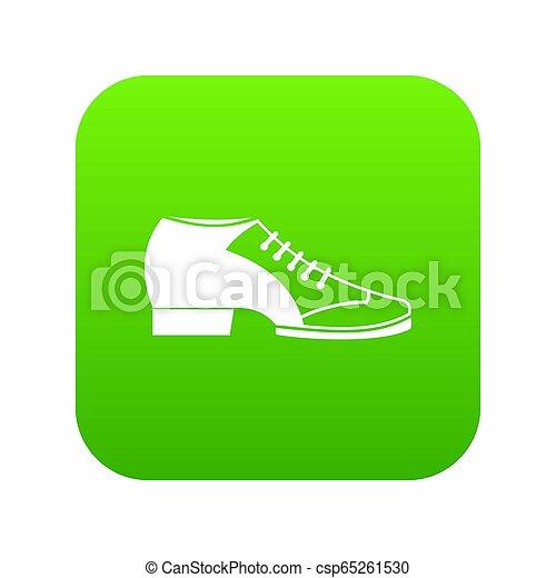 icône, vert, chaussure, tango, numérique - csp65261530