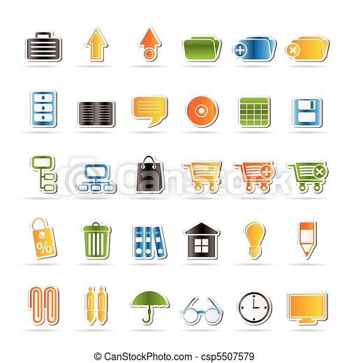icônes, bureau affaires - csp5507579