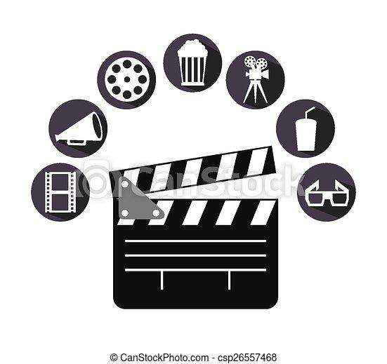 icônes, cinéma - csp26557468