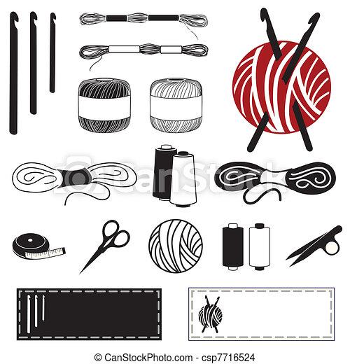 icônes, crochet - csp7716524