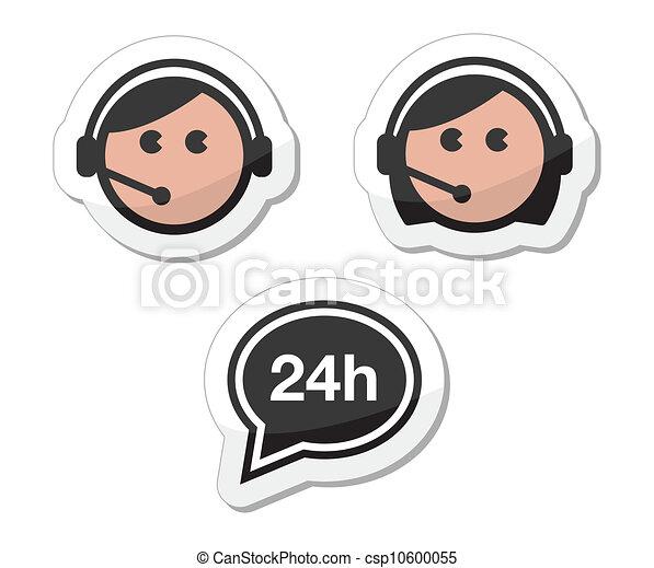 icônes, ensemble, service, étiquettes, client - csp10600055