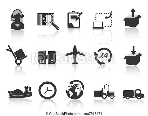 icônes, logistique, expédition - csp7515471