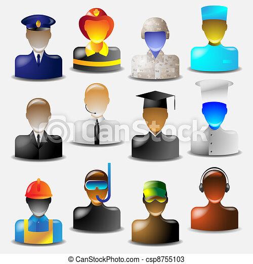 icônes, métiers - csp8755103