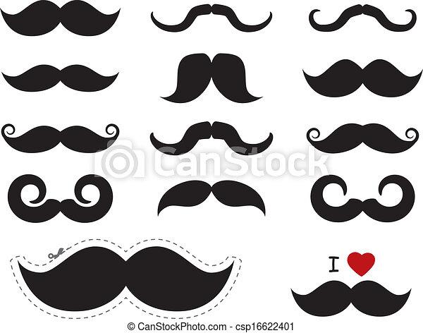 icônes, -, /, movember, moustache, moustache - csp16622401