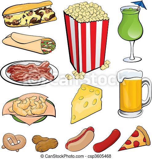 icônes nourriture - csp3605468