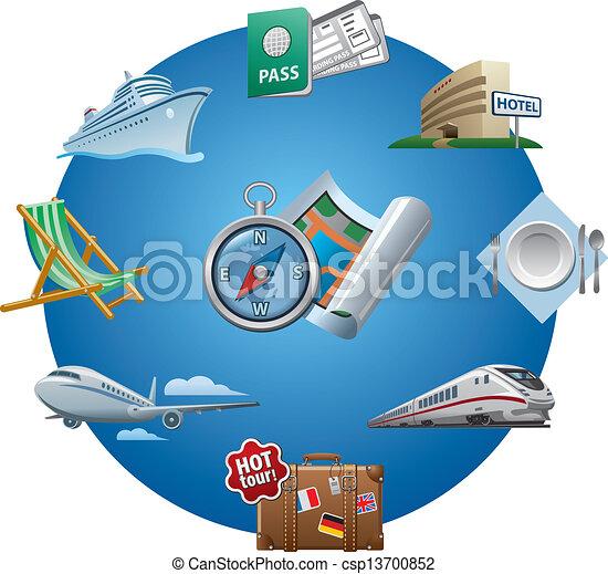 icônes voyage - csp13700852