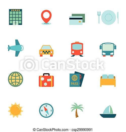 icônes voyage - csp29990991