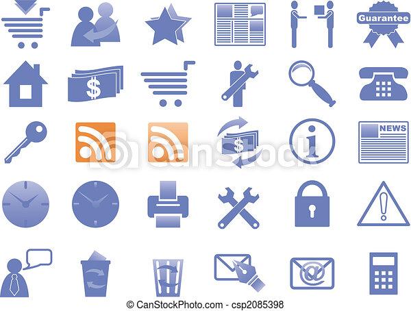 icônes, website., internet - csp2085398