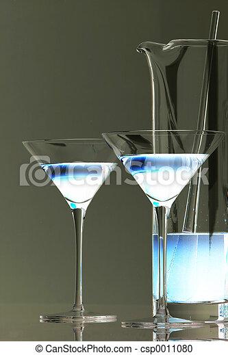 Ice Blue Martini - csp0011080