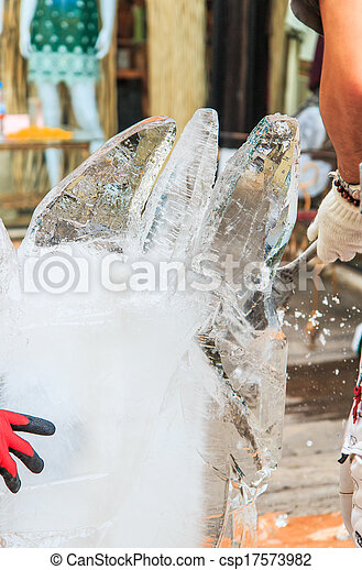 Ice carving - csp17573982