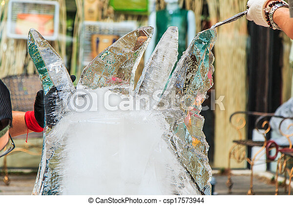 Ice carving - csp17573944