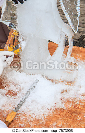 Ice carving - csp17573908