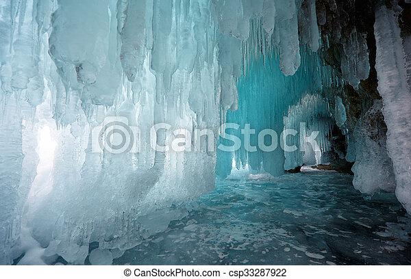 Ice cave - csp33287922