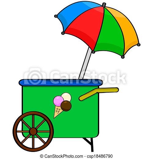 Ice cream cart - csp18486790