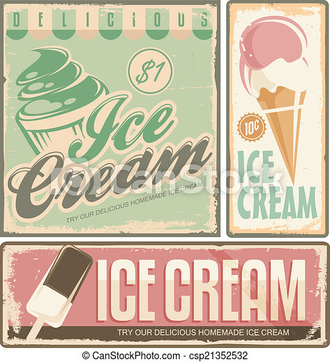 Ice cream - csp21352532