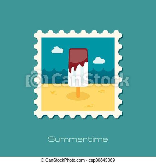 Ice Cream flat stamp - csp30843069