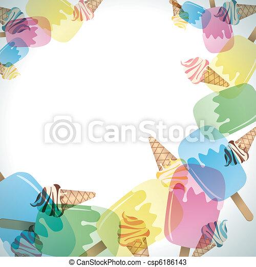 Ice cream frame. Illustration vector vectors - Search Clip Art ...