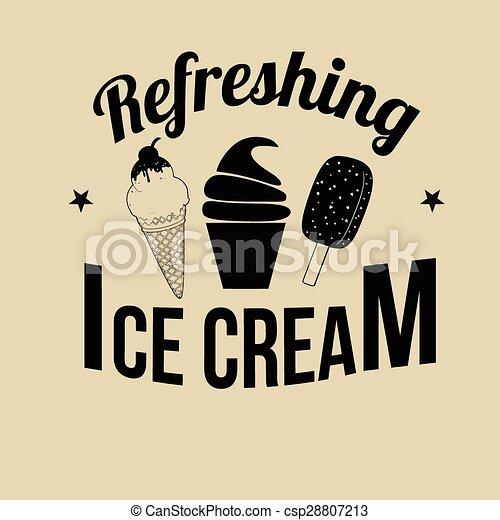 Ice Cream icon, label or stamp - csp28807213