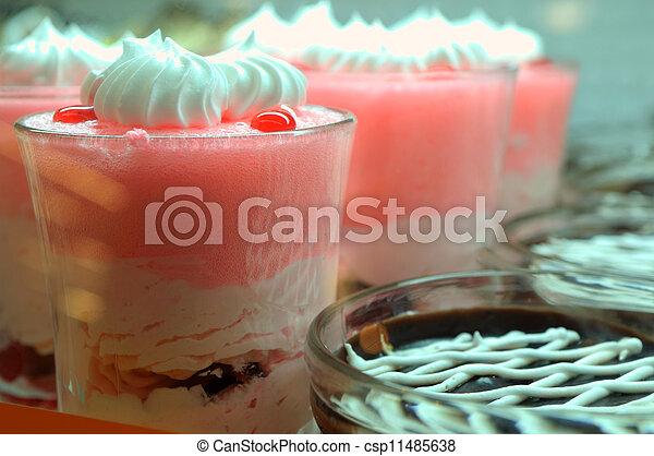 Ice cream in the glass - csp11485638