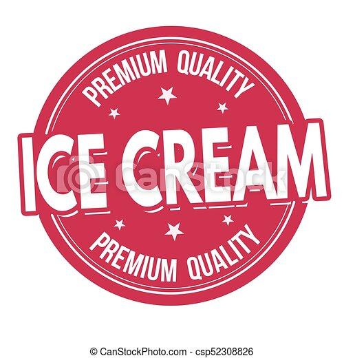 Ice cream label or stamp - csp52308826