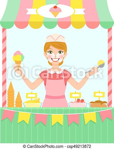 Ice cream seller - csp49213872