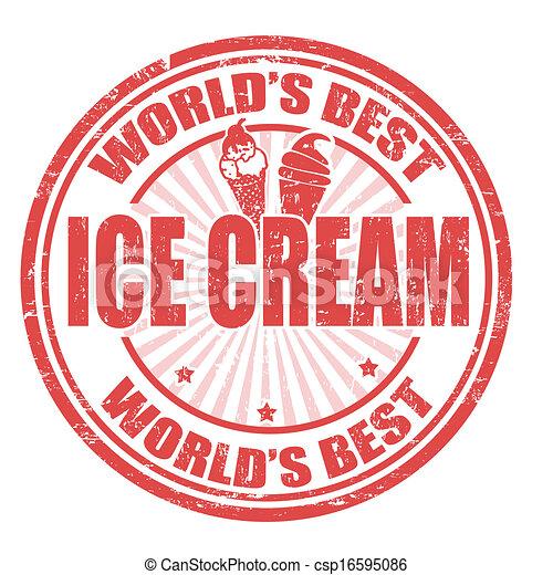 Ice Cream stamp - csp16595086