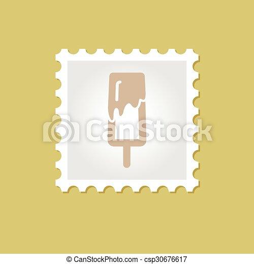 Ice Cream vector stamp - csp30676617