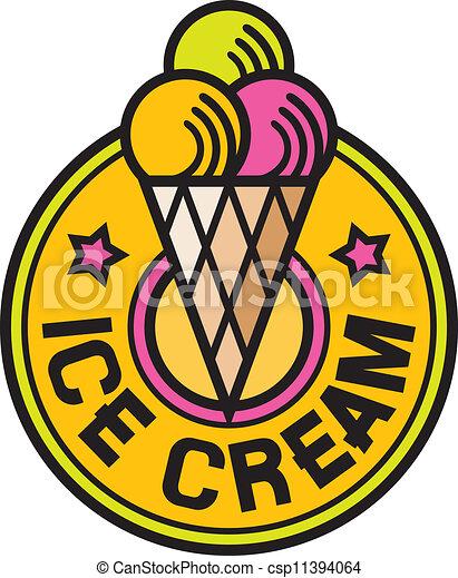 (ice, crema, icon), ghiaccio, etichetta - csp11394064